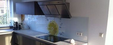 Achterwand keuken met foto Sinaasappel